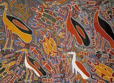 Amy Johnson JIRWULURR_Certains animaux ont des chants secrets_Art aborigene australien