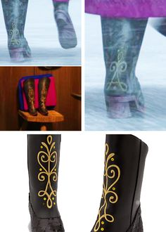 New nwt disney store frozen anna costume dress boots shoes ...