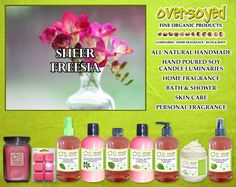 Sheer Freesia (Compare To Bath & Body Works®) Product Collection - A sweet soft floral bouquet of freesia, gardenia, cyclamen and violet with a touch of jasmine on a woody musky base. #OverSoyed #SheerFreesia #Candles #HomeFragrance #BathandBody #Beauty