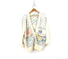 Vintage Clothing & Decor Shop by DirtyBirdiesVintage on Etsy Cute Sweaters, Vintage Sweaters, Vintage Denim, Vintage Clothing, Vintage Outfits, Sweaters For Women, White Cardigan, Sweater Cardigan, Mini Turtles