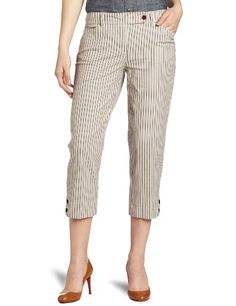 Jones New York Women%27s Striped Slim Pant