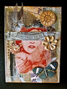 Altered Box Mixed Media Always Ready For Use Mixed by ladyjennd