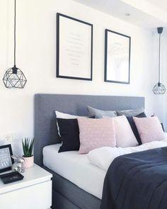 Blue Bedroom Ideas - We're putting it around-- blue might be the ultimate bedroo. Blue Bedroom Ideas – We're putting it around– blue might be the ultimate bedroom color. Stylish Bedroom, Gray Bedroom, Bedroom Inspo, Home Decor Bedroom, Bedroom Furniture, Bedroom Ideas, Design Bedroom, Bedroom Modern, Bedroom Wardrobe