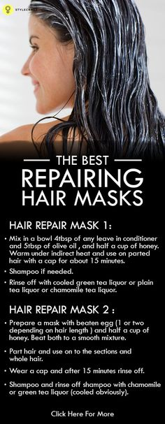 Here 's providing you with some sure fix Hair Repair Masks which you should follow atleast twice a month or once every week for beautiful and healthy hair!