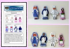 Linda Walsh Originals Dolls and Crafts Blog: Occupations Group Nurses and Chef Cut and Sew Kits and Handmade Ornaments Sets