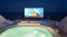 These superyacht outdoor cinemas think outside the box, literally getting outside and putting the yachts' exterior design elements to good use for movie viewing al fresco