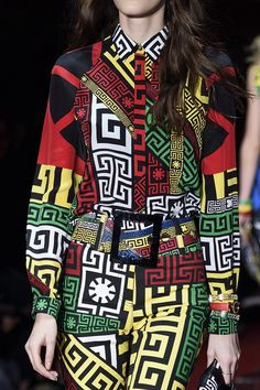 The iconic @Versace greek key gets an injection of colour for #AW15 #MFW