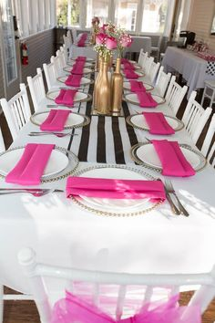 Kate Spade Inspired Bridal Shower by Cottage Charm | LinenTablecloth Blog