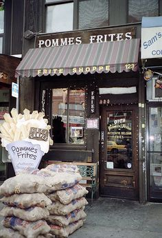 Pomme Frites, St. Marks Place - is this the same place that used to be on W. 8th St. off of 6th Ave. in the 90s?