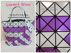 """Lucent Glow"" Bao Bao Issey Miyake Tote Bag (June'14 Collection) 100% Authentic!!  Color: White & Pink Purple  Size: H34×W34(cm) Ship from Japan ✿To Order, message/email us below✿ ♥️ FB Inbox: https://www.facebook.com/messages/baobaohandbags ♥️ Email: welovebaobao@gmail.com ✿Visit Us✿ www.baobaopreordershop.com"