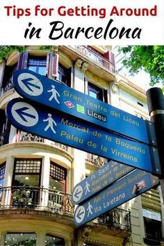 Best travel tips for visiting Barcelona - learn about getting around in Barcelona - information on buses, tram, metro, Aerobus, Hop-on Hop-off tourist bus, bicycle rental, and more - SoloTripsAndTips.com