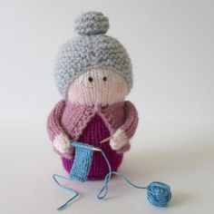 dolly knitting patterns: Granny Knitting by Amanda Berry on the LoveKnitting blog
