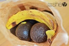 ripen avocados by putting in a brown paper sack with a banana peel. ripe overnight or shortly thereafter