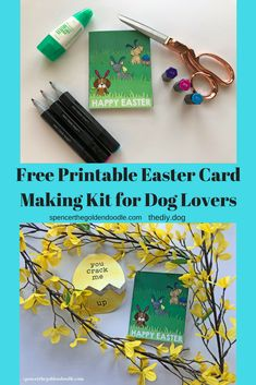 Free Printable Easter Card Making Kit for Dog Lovers