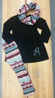 a1f1678716 Item includes matching scarf and single initial monogram. Lori Lynn · Snotty  Tots Children s Boutique