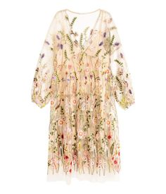 Wear this nude floral embroidered dress from H&M for a summertime date night.