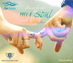 #soul #mate #beach #wedding #couple #anchor #Goa #celebration #life #love