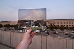 Pentágono em dois momentos 11 de setembro de 2001