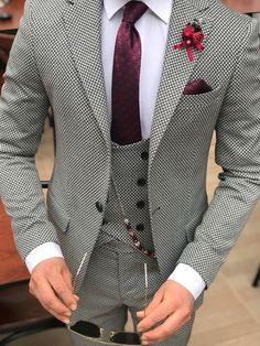 Fashion Wool Houndstooth Men Dress Prom Suits for Wedding Groom Tuxedos 3 Pieces : Fashion Wool Houndstooth Men Dress Prom Suits for Wedding Groom Tuxedo – classbydress Dress Suits For Men, Men's Suits, Men Dress, Wedding Dress Men, Wedding Suits, Wedding Groom, Indian Men Fashion, Mens Fashion Suits, Der Gentleman