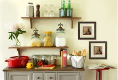 Turn your kitchen into a warm and welcoming space with country-style storage and more. Charming metal baker's racks organize dishes and appliances, while canister sets and glass jars keep sugar and flour fresh. Wrap up your farmhouse update with rooster-adorned accents.http://www.wayfair.com/daily-sales/Country-Chic-Kitchen-Storage~E13972.html?refid=SBP.jv1ZFlHhXDpYFAD3lQr9WRMh8VSKPU65nwjccex_0Ds