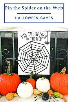 Host a fun Halloween party with this F*R*E*E printable Pin the Spider on the Web game from Everyday Party Magazine #Halloween #HalloweenGames #HalloweenPrintables