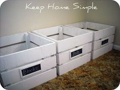 Keep Home Simple: Homemade Wooden Crates