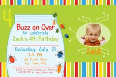 Bugs Birthday Party Invitation Printable  by AsYouWishCreations4u, $14.00