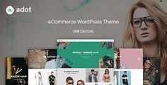 eCommerce WordPress Theme - adot . eCommerce has features such as High Resolution: Yes, Widget Ready: Yes, Compatible Browsers: IE9, IE10, IE11, Firefox, Safari, Opera, Chrome, Compatible With: WPML, WooCommerce 2.3.x, WooCommerce 2.2.x, WooCommerce 2.1.x, WooCommerce 2.0.x, Ecwid, Bootstrap 3.x, Software Version: WordPress 4.2, WordPress 4.1, WordPress 4.0, Columns: 4+