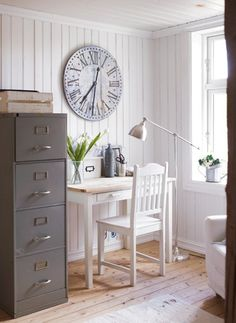 Keep track of time working at home with a big clock.