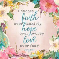 Love over fear. xo See the app of inspiring wallpapers at ~ www.everydayspirit.net xo #faith #hope #love