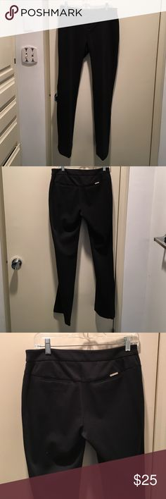 Dressy yoga pants Michael Kors Black stretchy dress pants, straight-leg size 6. Excellent condition. Barely worn. Michael Kors Pants Straight Leg