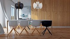 Φωτισμός με στιλ! Eames, Dining Table, Black And White, Chair, Furniture, Home Decor, Black White, Recliner, Homemade Home Decor