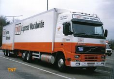 TNT Express Worldwide branded truck and trailer - a few years old!