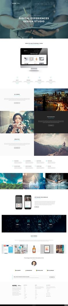 Howl - Creative Multi-Purpose WordPress Theme on Behance