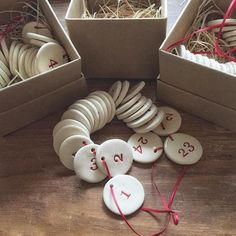 i know not everyone is quite prepared for christmas.... but just wanted to share our little advent number pack that has just been listed online and is in store now... a keepsake to be used year after year, after year... $75 set (each disc is just over 3.5cm)