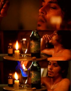"""Johnny Depp in """"FROM HELL""""      From Hell (2001)      (via boxingclever)      laudanum and absinthe…i looked for pics of this and couldn't find them. thanks for posting whoever posted first!!!"""