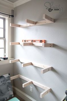 Attach Shelves to wall