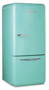 Retro Refrigerator : Robin Egg Blue