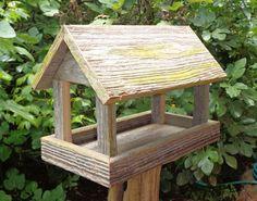 Rustic Weathered Cedar Bird Feeder
