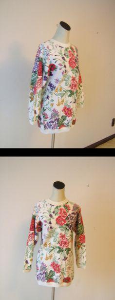 JIK Floral Sweatshirt Top Dress
