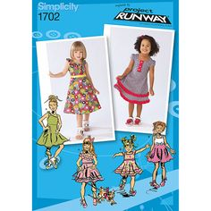 Simplicity Toddlers' and Child's Dresses Project Runway Collection Pattern