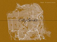 CityGrid Art - San Francisco - 23X30 by citygrids on etsy