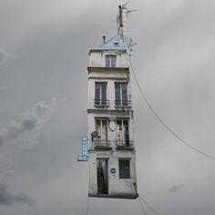 laurent chehere flying houses laurent chéhère's airborne architecture series sees french houses fly all images © laurent chéhère