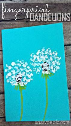 fingerprint-dandelion-craft-for-kids