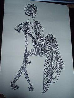 Фотография Weaving Projects, Weaving Art, Lace Art, Bobbin Lace Patterns, String Art Patterns, Lacemaking, Thread Art, Lace Jewelry, Needle Lace