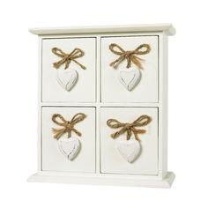 George Home Cream Heart Drawers | Sea View | ASDA direct