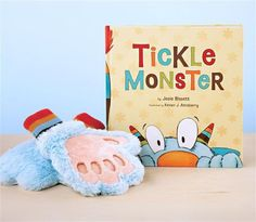 Tickle Monster Book is here! It includes these super fun monster gloves! #saybrookcountrybarn #2016