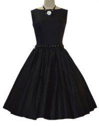 Vintage Slash Neck Solid Color With Belt Sleeveless Dress For Women