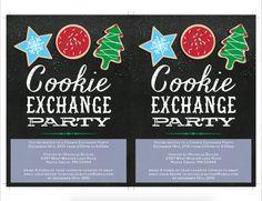 Cookie Exchange Invitations Template DIY by JazzHandsPaperCo