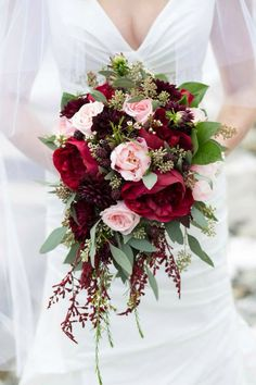 Blush & Merlot Wedding Flowers done by Valley House of Flowers More